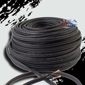16GA Gauge 100FT BLACK OFC 100% Copper Marine Car Home Audio Speaker Cable Wire