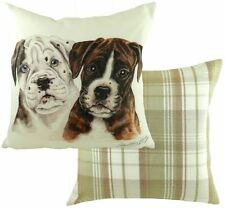 "17"" Boxer Puppy Dog Cushion Evans Lichfield CV056 43cm Waggydogz Pups"
