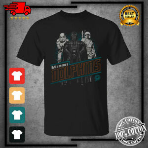 Men's Miami Dolphins Junk Food Empire Star Wars Black T-Shirt S-4XL