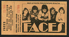 Original 1972 Rod Stewart Faces Unused Full Concert Ticket Hollywood Palladium