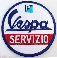 Vespa Servizio Patch, Service, Mods, Italian, Scooters