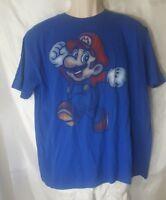 Official Super Mario Blue Graphic T-shirt Size XL