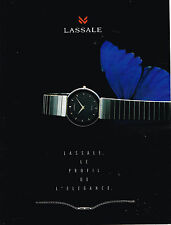 PUBLICITE ADVERTISING 094  1991  LASSALE  collection montre