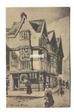 Bristol - The Cat & Wheel pub, Castle Green - old artistic postcard