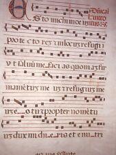 Medieval 15th-16th C. Italian Illuminated Musical Manuscript Vellum ANTIPHONARY