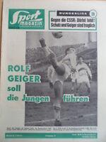 SPORT MAGAZIN KICKER 17 A- 27.4. 1964 * Rolf Geiger Hertha-1860 3:1 Helmut Schön