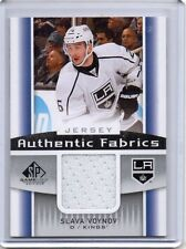 SLAVA VOYNOV Kings 2013/14 SP Game Used Authentic Fabrics White Jersey Card
