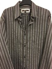 Monsoon Mens Brown Stripe Shirt Size M Long Sleeve Collared Smart Office Work