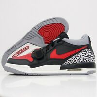 Nike Air Jordan Legacy 312 Low Bred Cement Black Red Boys Sneakers Youth Size 7Y