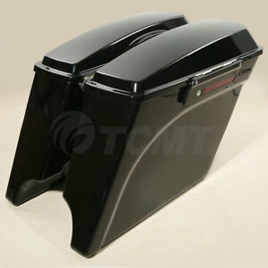 """5"""" Stretched Extended Hard Saddlebags For Harley Electra Glide Road King 93-13"""