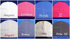 L@@K! DARLING CUSTOM PERSONALIZED MONOGRAM BEANIE BABY HATS-INFANT/NEWBORN 0-3MO