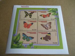 DOMINICA    CARIBBEAN-BUTTERFLIES  OF DOMINICA  SHEETLET I