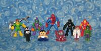 Lot of 10 Marvel Action Figures Super Heroes and Villains Spiderman Excellent
