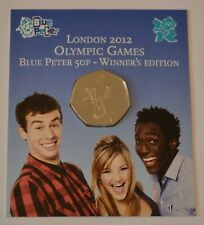 More details for london 2012 olympic games blue peter 50p - winner's edition