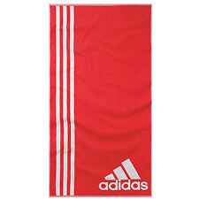 Serviette de bain Adidas L ray Rouge Blanc