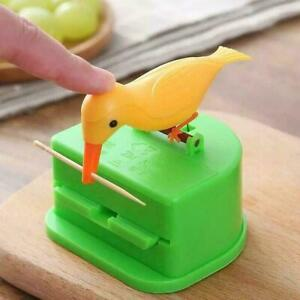 NEW Cute Bird Toothpick Dispenser Toothpick Holder 2 Box Colors F9K3