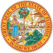 "Florida State Seal USA Car Bumper Window Locker Vinyl Sticker Decal 4.6""X4.6"""