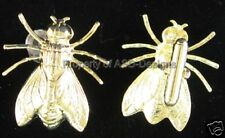 1pr Gold Plated Hornet Wasp Bee Mens Cuff Links 4093