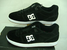 New Mens 12 DC Match S Black White Logo Suede Leather Skate Shoes $70