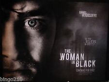 THE WOMAN IN BLACK ORIGINAL 2012 QUAD POSTER  HAMMER HORROR DANIEL RADCLIFFE