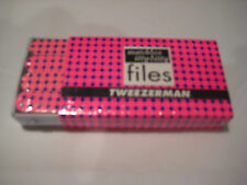 Tweezerman Matchbox Itty Bitty Files - Blue on Pink - Diamonds