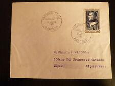 FRANCE PREMIER JOUR FDC YVERT 896   NAPOLEON 1 ER     30+10F   AJACCIO    1951