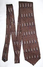 Bill Blass tie Black Label Mexican 1980s silk tie Bronze colour Extra Long XL