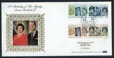 Great Britain 60th Birthday of HM Queen Elisabeth 2nd  silk first day cover #20