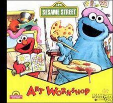 SESAME STREET  ART WORKSHOP  - LEARN WITH FUN FOR PRESCHOOLERS! SHIPS FAST/FREE