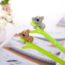 3* Ankunft Neuheit Koala Gel Stifte Grüne Zweig Schwarz Tinte 0,5mm Gelschreiber
