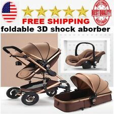 premium 3 in 1 Baby Stroller High Landscape  Folding Carriage for Newborn  NEW