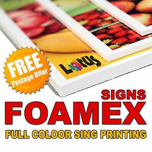 A0 (841x1189 mm) Size Foamex Foam Board Sign Full Colour Printing 5mm Thicknes