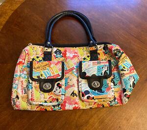 Walt Disney World Parks Bag Minnie & Mickey Mouse Cartoon Comic Handbag Purse