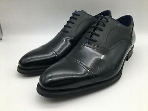 Ex-Display Ted Baker Fharen Black Patent Oxfords Smart Shoes Mens Size UK 8
