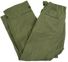 VINTAGE 50s military OD field trousers M ARMY pants SATEEN w HBT POCKETS 30x31