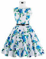 Vintage Children Girls Dress 50s Style Floral Swing Party Birthday Prom Dresses