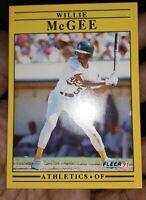1991 FLEER Willie McGee  *** ERROR CARD***
