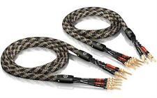 2 x 3,00m ViaBlue SC-4 bi-wire Lautsprecherkabel mit TS tube Bananensteckern NEU