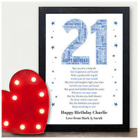 Personalised 21st Birthday Gifts for Him 16th 18th Birthday Gifts Son Male Men