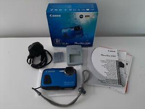 *CANON POWERSHOT D30 WATERPROOF GPS HD DIGITAL CAMERA BOXED-FAULTY/MIB*