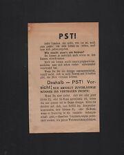 Passierschein - Nr. 203  - 2.Weltkrieg etwa 1943 oder 1944