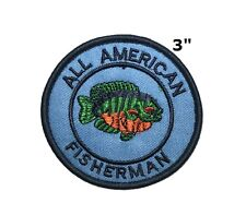 Fishing, Freshwater Fish-Iron On Embroidered Applique Patch/ Fishing, Sports