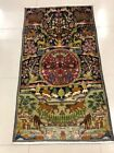 Authentic Antique Kashmiri Woolen Hand-knotted Indian Rug 2.9x4.9ft