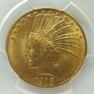 """1915 $10 """"Eagle"""" Indian Head Type Gold Coin - PCGS MS63 - H3100"""