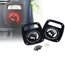Xprite Black Tail light Guard For 1987-2006 Jeep Wrangler TJ YJ Don't Follow Me