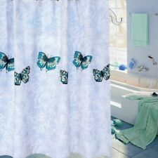 Butterfly Shower Curtains Extra Long Polyester Fabric Bath Curtains Decor