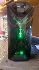 NZXT Green LED Custom Gaming PC Computer Desktop Quad Core 8GB Nvidia 1TB DVDRW