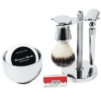 Men's Shaving Set Shaving brush, Razor,Stand with Bowl Soap Wet Shaving Kit