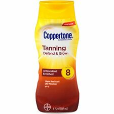 Coppertone Tanning Sunscreen Lotion SPF8 8oz Each