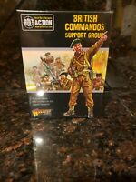 British Commandos support group Bolt Action WWII Warlord Games Model New!